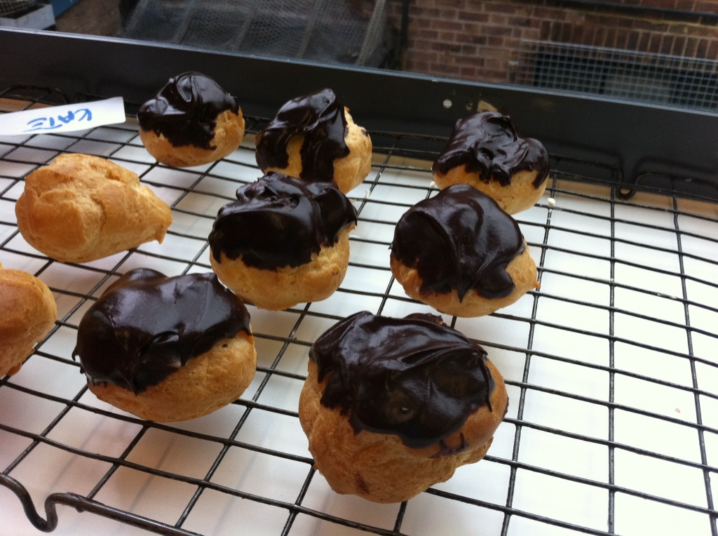 Profiteroles Cooling in the Window